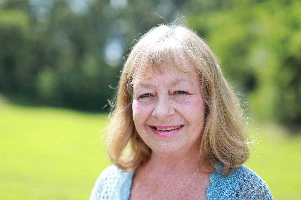 Rosemary Gaynier standing in a field